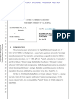 Automattic v. Steiner - DMCA 512 abuse magistrate judge recommendation attorneys fees.pdf