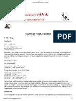 Tutorial de Java-Cadenas y Caracteres