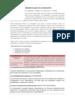 Estándares Para La Evaluación de Programas
