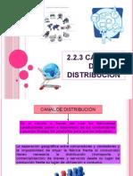 2.2.3 Canales de Distribución