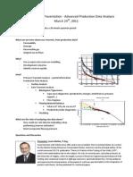 Spe Talk Outline - Louis Matter, Advanced Production Data Analysis