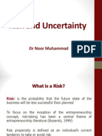 Lecture 4 - Risk & Uncertainty