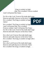 He is Exalted