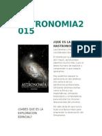 La Astronomia2015