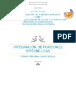 Integrales Hiperbólicas