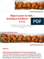 Object Lesson for Kids - Growing in Godliness – 2 Peter 1-1-11