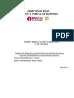 Evaluación  y evolución de los Contratos de Reserva Fría