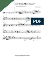 Chorus From Judas Maccabaeus1 Violin I