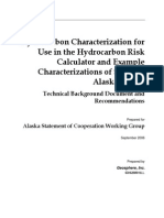 Hydrocarbon Characterization for Use in the Hydrocarbon Risk Calculator and Example Characterizations of Selected Alaskan Fuels
