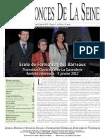 Edition du jeudi 12 janvier 2012