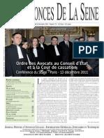 Edition du jeudi 22 decembre 2011