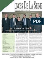 Edition du jeudi 29 novembre 2012