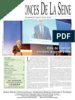 Edition du jeudi 8 septembre 2011
