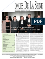 Edition du jeudi 9 fevrier 2012