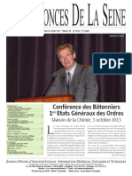 Edition du lundi 14 octobre 2013