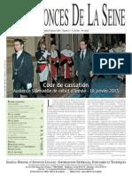 Edition du lundi 21 janvier 2013