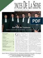 Edition du lundi 22 octobre 2012