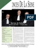 Edition du lundi jeudi 13 octobre 2011