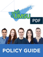 Your UMSU Policy Guide