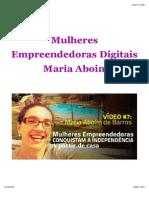 Mulheres Empreendedoras Digitais - Maria Aboim