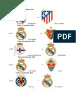 Jadwal Real Madrid