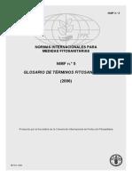 Normas Internacionales Para Glosario de Términos Fitosanitarios