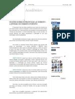 Rascunho Acadêmico_ Noções Sobre Introdução Ao Direito - A Divisão No Direito Positivo