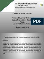 Juicio Oral en El Sistema de Justicia Penal