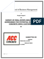 Acc Report on rmc industry in ahmedabad