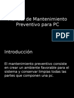 Manual de Mantenimiento Preventivo Para PC