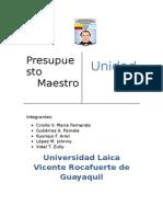 Unidad 4 - Presupuesto Maestro