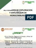 Actividades de Exploracion y Explotacion de Hidrocarburos