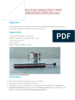 Modified Proctor Compaction Test or Heavy Compaction Test