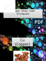Copper, Silver, Gold