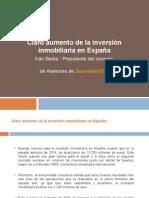 Claro Aumento de La Inversión Inmobiliaria en España
