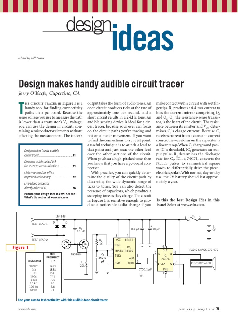 Edn Design Ideas 2003 Amplifier Rectifier Optocoupler Power Circuit With Moc3041 An Is A