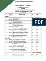 Ece Syllabus II- Viii Sem r2008