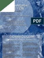 Curriculum Portafolio Alejandra Pasten