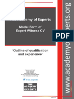 TAE Model Form of Expert Witness CV