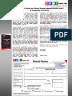 Studi Potensi Bisnis dan Pelaku Utama Industri POWER PLANT di Indonesia, 2015- 2020