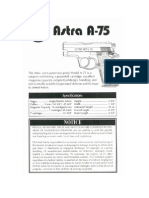 The Astra Semi-Automatic Pistol Modell a-75 Is