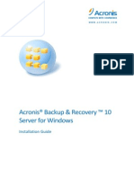 AcronisBackup Recovery 10 SW Installguide en-US