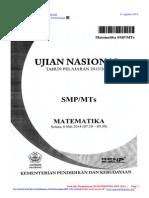 soal dan pembahasan un matematika smp 2014