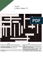 Solution to Cross Word of E-news letter volume VI