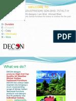 DECON DESIGNS PRESENTATION