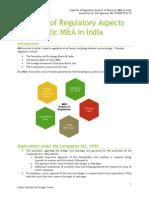 Regulatory Aspects of M&a for India - Ajit 4B
