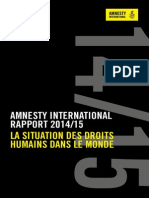 Rapport d' Amnesty International