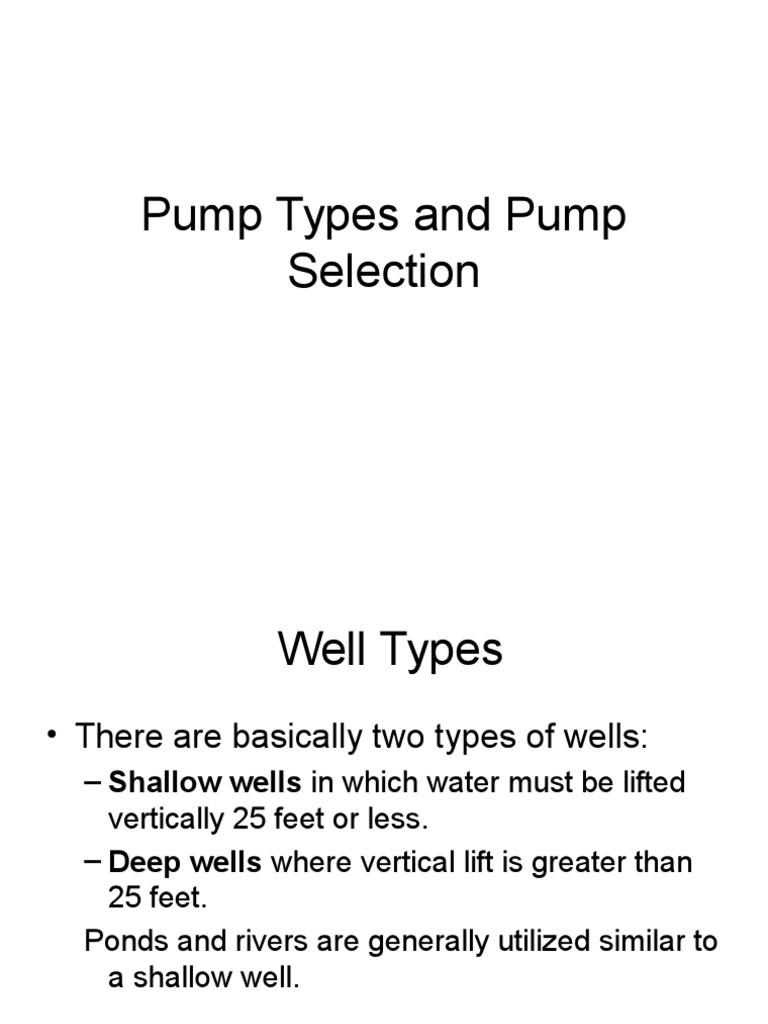 Pumps Funda | Pump | Fluid Dynamics