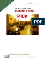 Proyecto estrategico de un restaurante