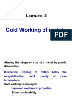 FMP 221 Lecture 9 Cold Working